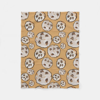 Chocolate Chip Cookies Cookie lover Fleece Blanket