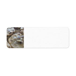 Chocolate Chip Cookies Custom Return Address Label