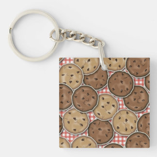 Chocolate Chip Cookies Double-Sided Square Acrylic Keychain