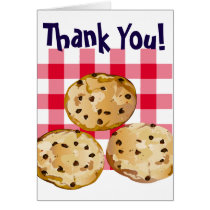 Chocolate Chip Cookies Gingham Picnic Pattern