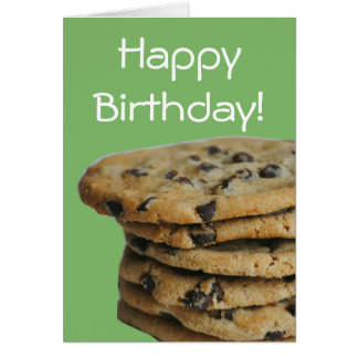 Chocolate Chip Cookies Happy Birthday Card