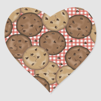 Chocolate Chip Cookies Heart Sticker