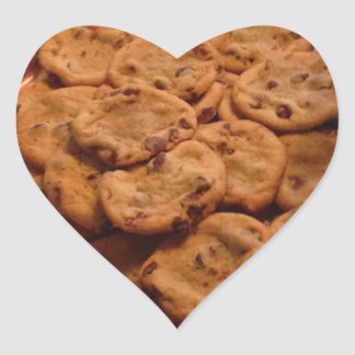 Chocolate Chip Cookies Heart Stickers