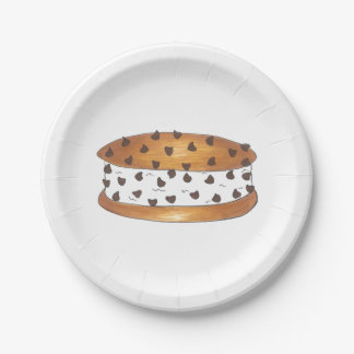 Chocolate Chip Cookies Ice Cream Sandwich Plates