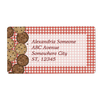 Chocolate Chip Cookies Custom Shipping Label