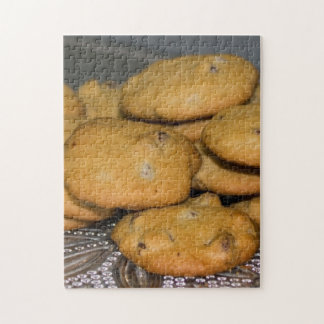 Chocolate Chip Cookies on Platter Jigsaw Puzzle