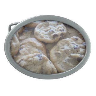 Chocolate Chip Cookies Oval Belt Buckle