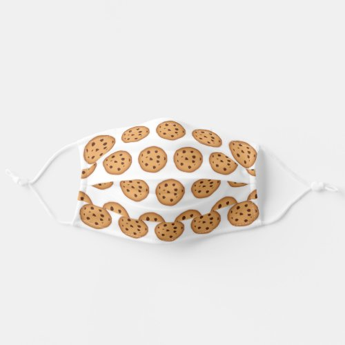 Chocolate Chip Cookies Pattern Adult Cloth Face Mask