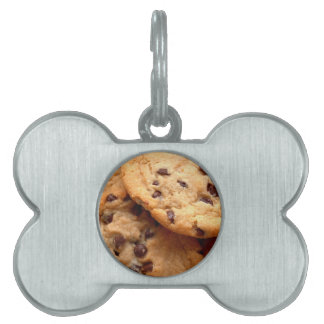 Chocolate Chip Cookies Pet Name Tag