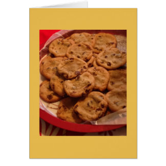 Chocolate Chip Cookies Photo Card