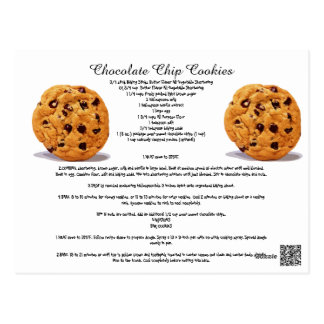 Chocolate Chip Cookies Recipe Cook Kitchen Sweets Postcard
