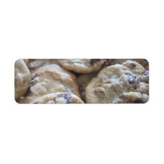 Chocolate Chip Cookies Return Address Label