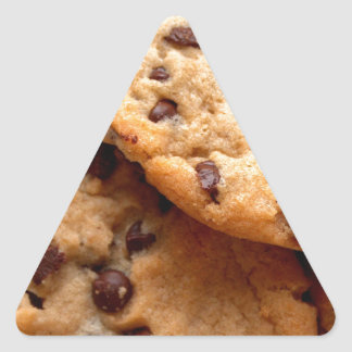 Chocolate Chip Cookies Triangle Sticker