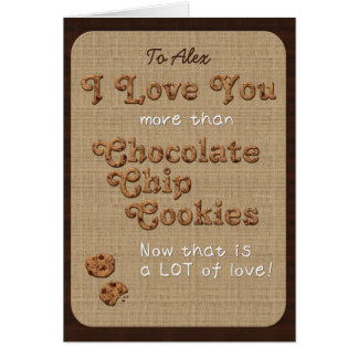 Chocolate Chip Crispy Yummy Cookies Golden Brown Card