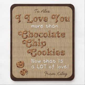 Chocolate Chip Crispy Yummy Cookies Golden Brown Mouse Pad