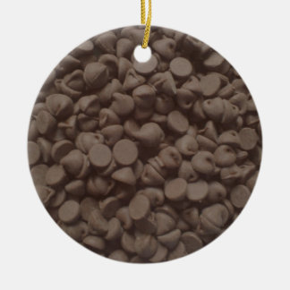 Chocolate chip Double-Sided ceramic round christmas ornament