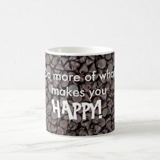 Chocolate Chip Happiness Quote Coffee Mug