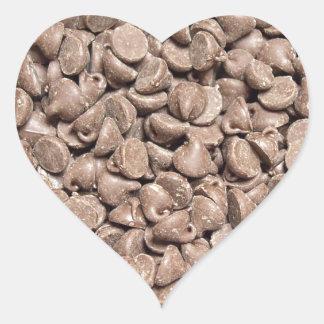 Chocolate Chip Heart Sticker