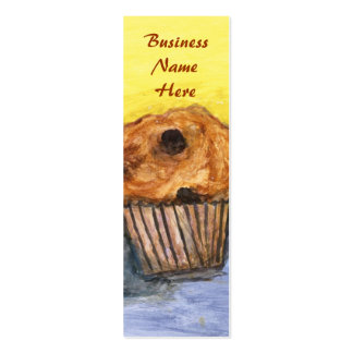 Chocolate Chip Muffin Bookmark Business Card