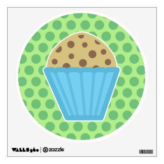 Chocolate Chip Muffin Wall Decal Green Polka Dots