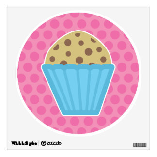 Chocolate Chip Muffin Wall Decal Pink Polka Dots