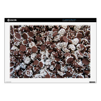 Chocolate Chip Print With White Sprinkles Laptop Skins