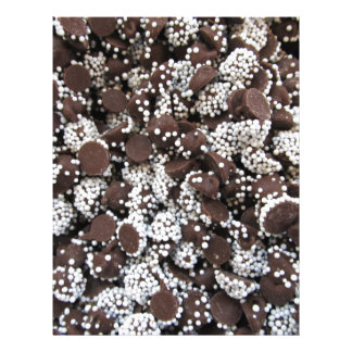 Chocolate Chip Print With White Sprinkles Letterhead