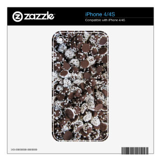 Chocolate Chip Print With White Sprinkles Skin For iPhone 4S