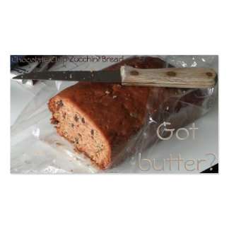Chocolate Chip Zucchini Bread business card