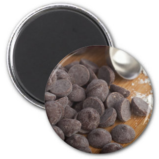 Chocolate Chips 2 Inch Round Magnet