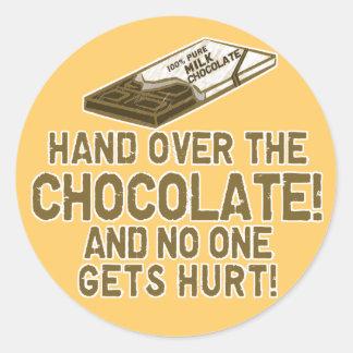 Chocolate Chocoholic Classic Round Sticker