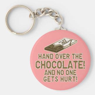 Chocolate Chocoholic Llavero Personalizado