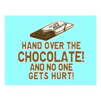 Chocolate Chocoholic Postcard