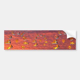 Chocolate - chocolate caliente, etiqueta de parachoque