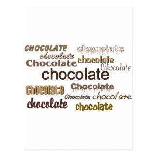 Chocolate Chocolate Chocolate Postcard