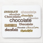 Chocolate, chocolate, cojín de ratón del chocolate alfombrilla de ratón