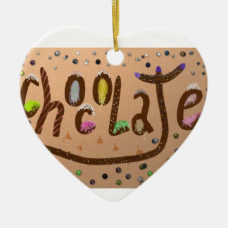 """Chocolate"" Christmas Heart Ornament"