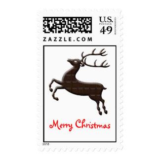 Chocolate Christmas Reindeer stamp