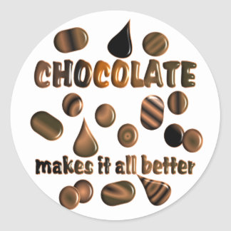 Chocolate Classic Round Sticker