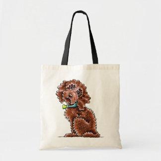 Chocolate Cockapoo Heart Collar Tote Bag