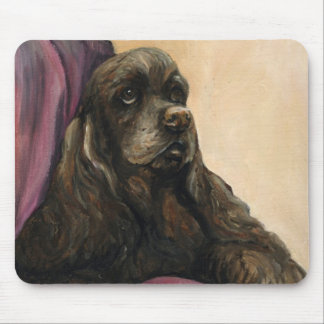 """Chocolate Cocker Spaniel"" Art Mouse Pad"