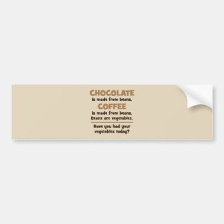 Chocolate, Coffee, Beans, Vegetables - Novelty Bumper Sticker