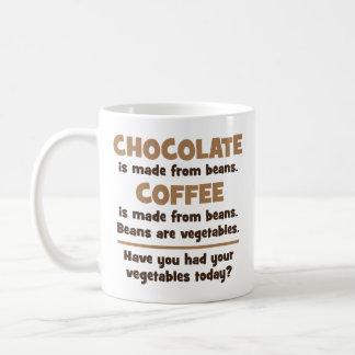 Chocolate, Coffee, Beans, Vegetables - Novelty Coffee Mug