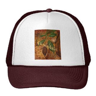 Chocolate Collage Mesh Hat