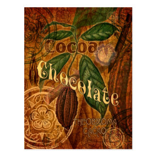 Chocolate Collage Postcard
