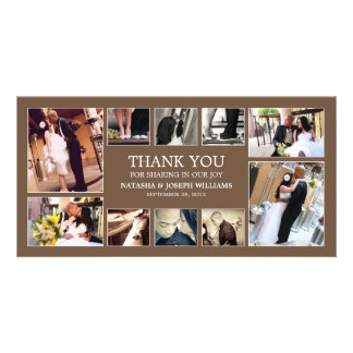 CHOCOLATE COLLAGE | WEDDING THANK YOU CARD