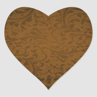 Chocolate Color Background Heart Sticker