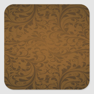 Chocolate Color Background Square Sticker