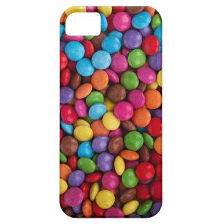 Chocolate colorido poco caramelo redondo del botón iPhone 5 Case-Mate protector