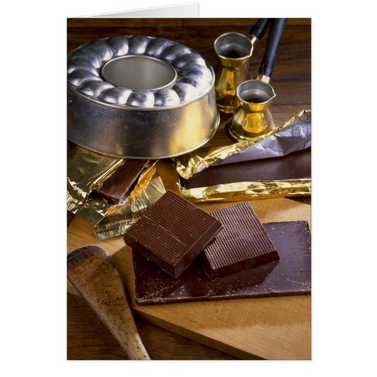 Chocolate composition For use in USA only.) Card